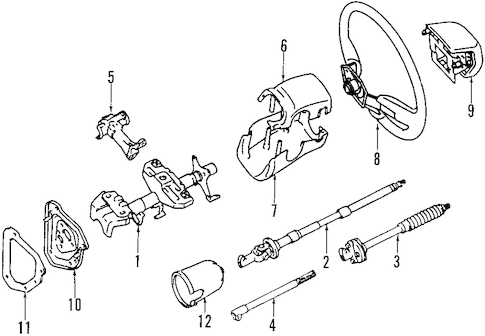 Genuine OEM STEERING COLUMN Parts for 1994 Toyota Pickup