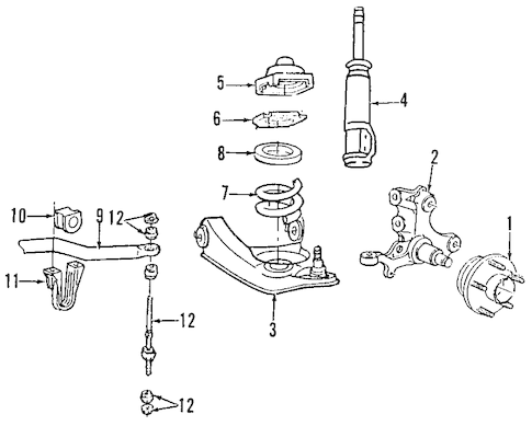 SUSPENSION COMPONENTS for 1996 Ford Mustang