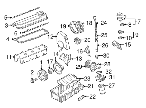 OEM VW ENGINE PARTS for 2001 Volkswagen Jetta