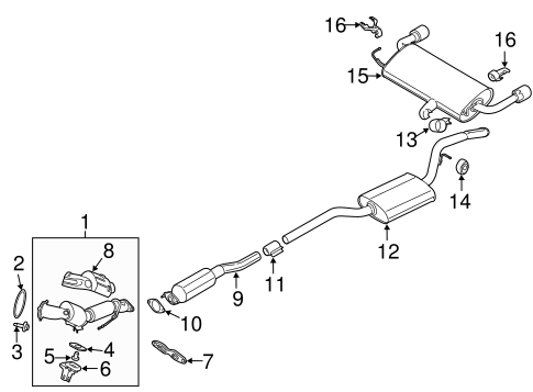 2013-2014 Ford Escape 1.6L Ecoboost Exhaust Catalyst