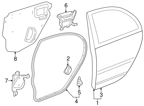 Genuine OEM DOOR & COMPONENTS Parts for 2003 Toyota