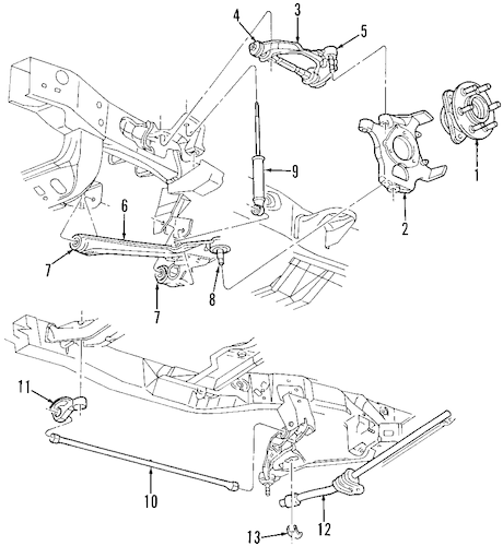 SUSPENSION COMPONENTS for 2003 Dodge Dakota