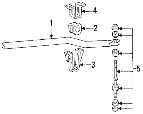 STABILIZER BAR & COMPONENTS for 1997 Ford Mustang