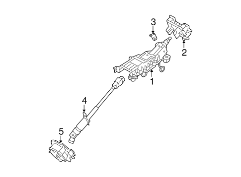 Ford Taurus Freestyle Five Hundred Sable Steering Column