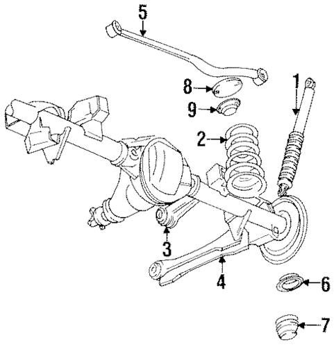 REAR SUSPENSION for 1997 Jeep Grand Cherokee