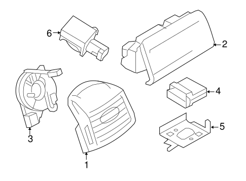 AIR BAG COMPONENTS for 2008 Ford F-350 Super Duty