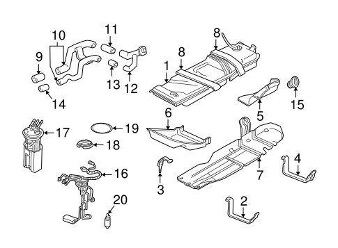 OEM FUEL SYSTEM COMPONENTS for 2000 Chevrolet Blazer