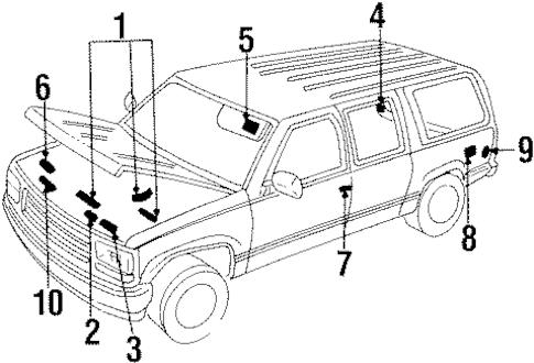 LABEL for 1996 Chevrolet Suburban K1500|10179230