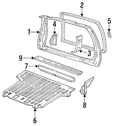 REAR FLOOR PAN for 1998 Chevrolet Tahoe|12547892