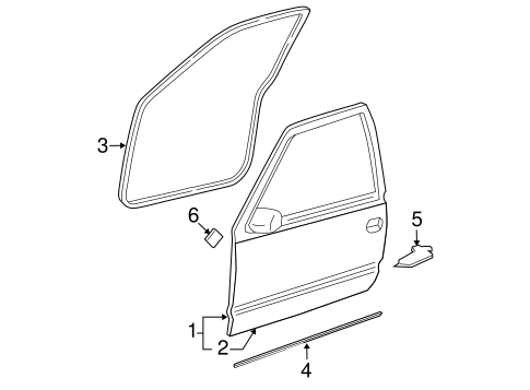 DOOR & COMPONENTS for 1999 Chevrolet Silverado 1500 (LS)