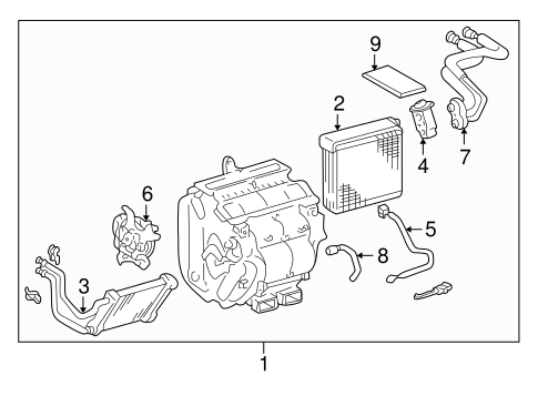 EVAPORATOR & HEATER COMPONENTS for 2001 Toyota Avalon