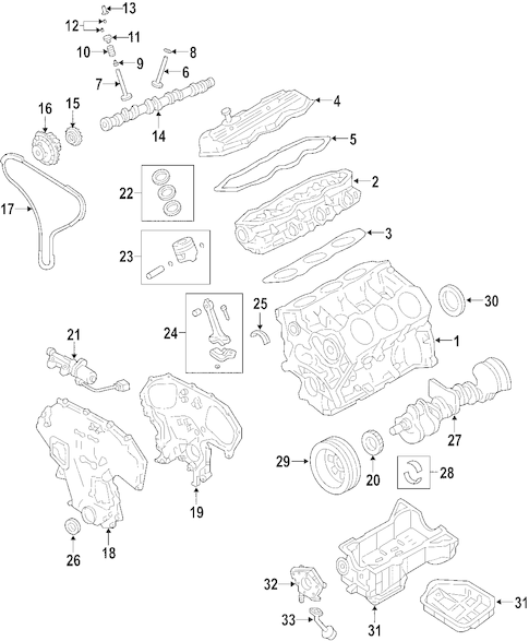 2008 Nissan frontier parts list
