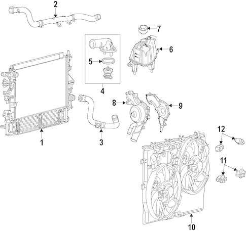 RADIATOR & COMPONENTS for 2014 Ram ProMaster 2500