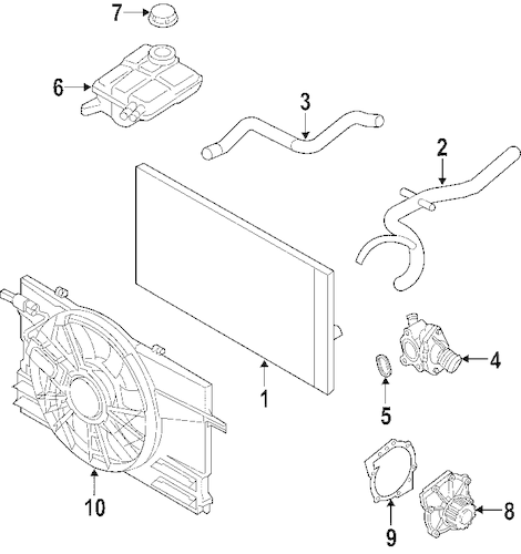 RADIATOR & COMPONENTS for 2010 Volvo S40