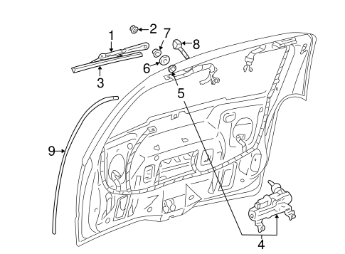 WIPER & WASHER COMPONENTS for 2005 Pontiac Montana (SV6)