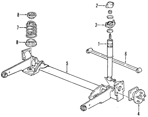 REAR SUSPENSION Parts for 1995 Chevrolet Lumina APV