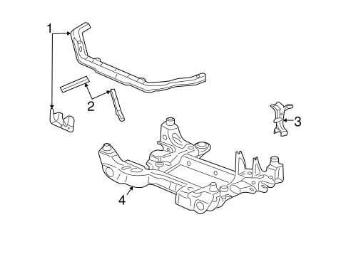 RADIATOR SUPPORT for 2006 Cadillac SRX (Base)