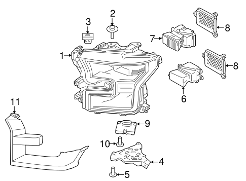 HEADLAMP COMPONENTS for 2015 Ford F-150