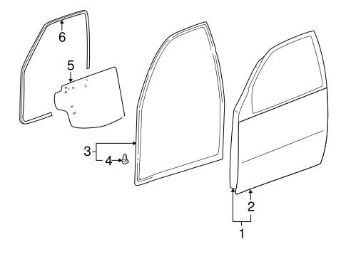 Genuine OEM DOOR & COMPONENTS Parts for 2004 Toyota RAV4