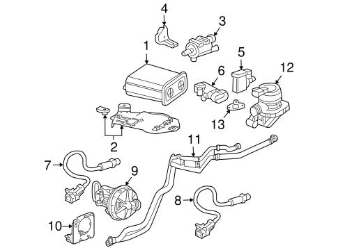 2006-2009 Chevrolet Trailblazer Air Pump System Check