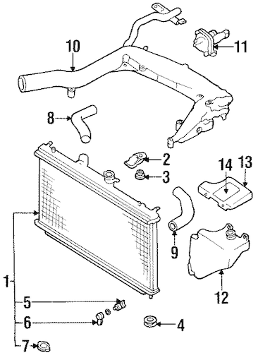 RADIATOR & COMPONENTS for 1993 Subaru SVX