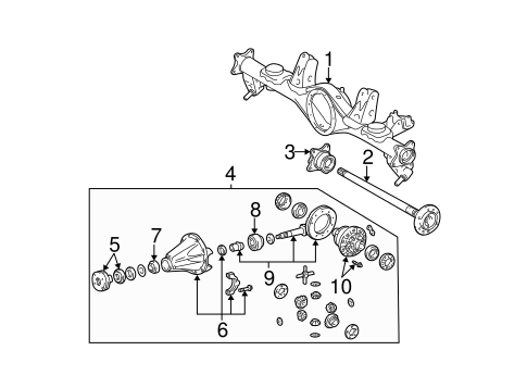 Genuine OEM AXLE HOUSING Parts for 2005 Toyota 4Runner