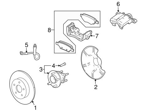 BRAKE COMPONENTS for 2008 Pontiac G5 (Base)