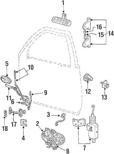 FRONT DOOR for 1997 Ford Taurus
