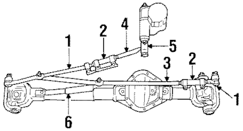 STEERING LINKAGE for 2001 Dodge Ram 1500