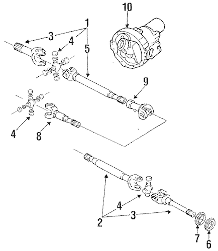 CARRIER & FRONT AXLES for 1994 Ford F-150