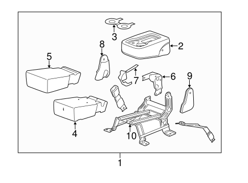 OEM FRONT SEAT COMPONENTS for 2014 GMC Sierra 2500 HD