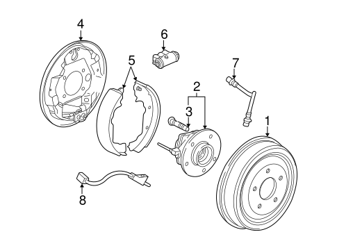 REAR BRAKES Parts for 2004 Saturn Vue