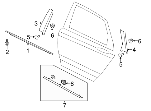 Ford molding retainers