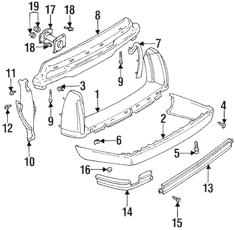 EXTENSION for 1994 Cadillac DeVille