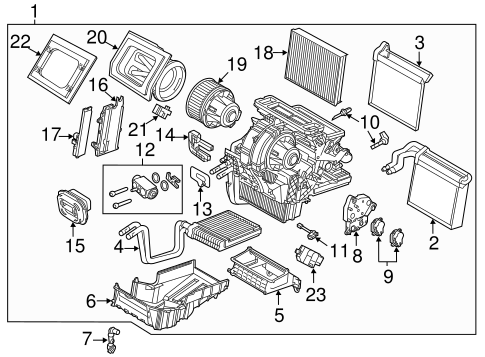 EVAPORATOR & HEATER COMPONENTS for 2014 Ford C-Max