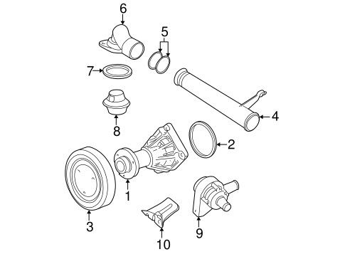 2007 Saturn Aura 3 5 Engine Water Pump Diagram