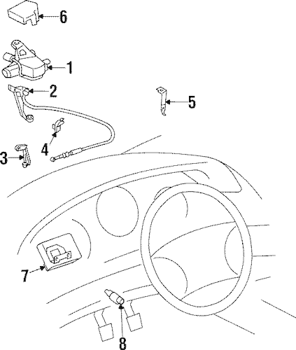 CRUISE CONTROL SYSTEM for 1995 Toyota Supra