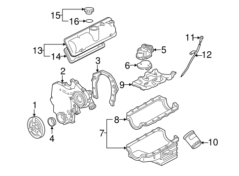 ENGINE PARTS for 2006 Chevrolet Uplander (LS)