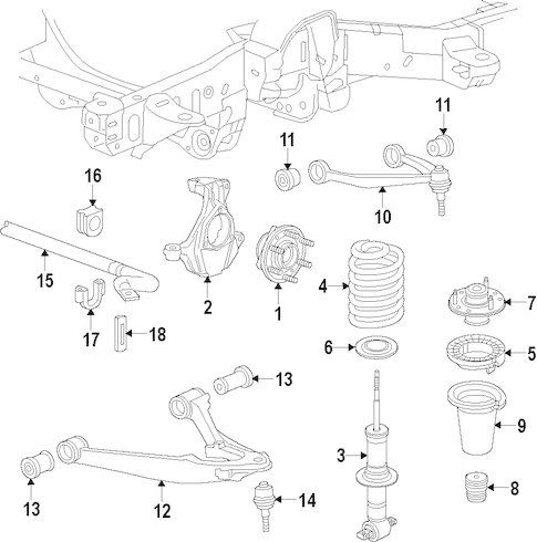 FRONT SUSPENSION for 2015 Chevrolet Tahoe