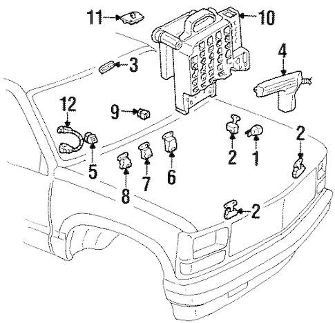 FUEL SYSTEM COMPONENTS for 1990 Chevrolet C1500