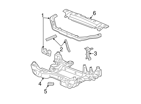 RADIATOR SUPPORT for 2007 Cadillac CTS (Base)