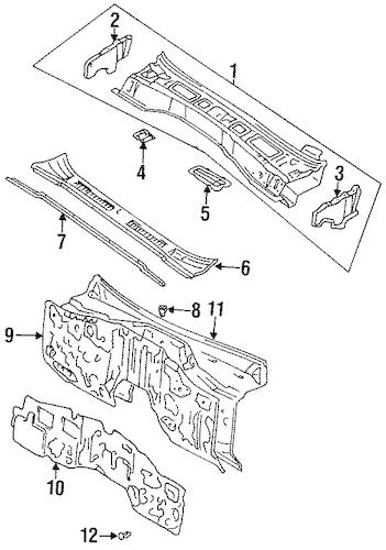 Genuine OEM COWL Parts for 1996 Toyota Land Cruiser Base