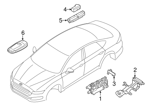 KEYLESS ENTRY COMPONENTS for 2014 Ford Fusion