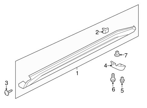 ROCKER MOLDING CLIP for 2014 Nissan Juke|76882-EW00B
