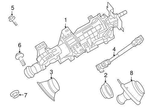 STEERING COLUMN ASSEMBLY for 2009 Nissan Altima