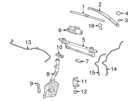 WIPER & WASHER COMPONENTS for 2014 Chevrolet Equinox
