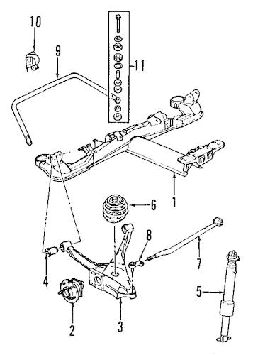 REAR SUSPENSION Parts for 1996 Buick Riviera