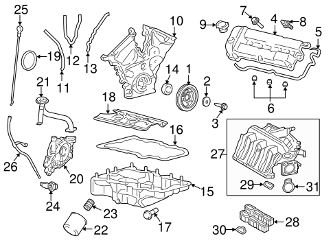 ENGINE PARTS for 2008 Ford Escape