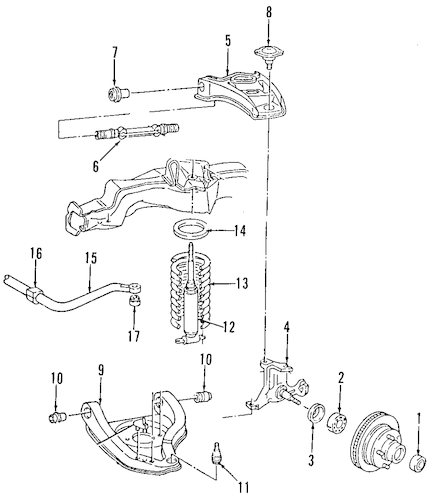 UPPER CONTROL ARM for 1993 Cadillac Fleetwood (Brougham)