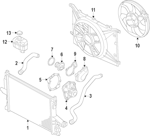 COOLING FAN for 2012 Volvo XC60|31338823
